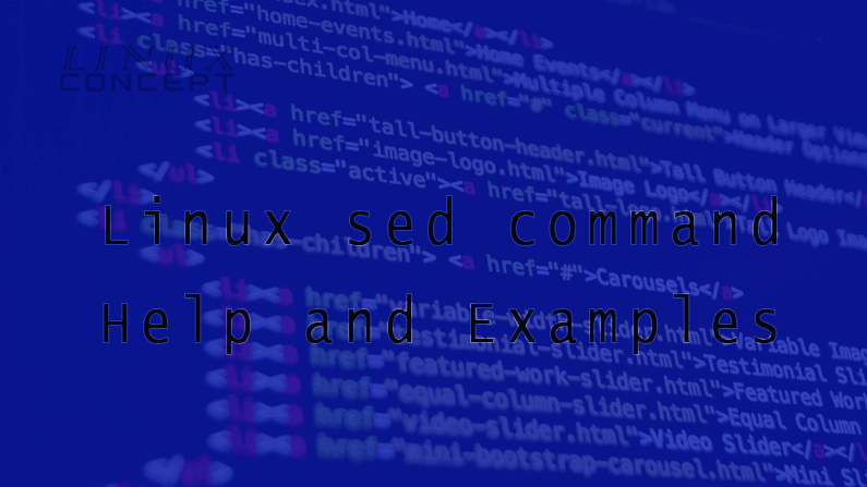 Linux sed command Help and Examples