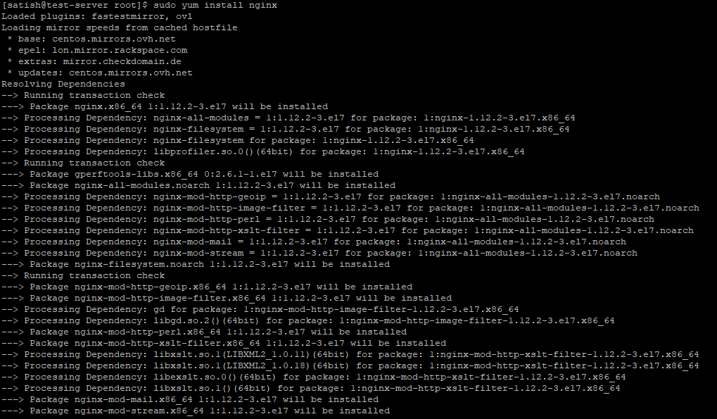 Nginx installation on RHEL