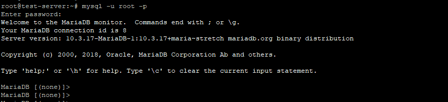 Linux Concept - mariadb connection debian