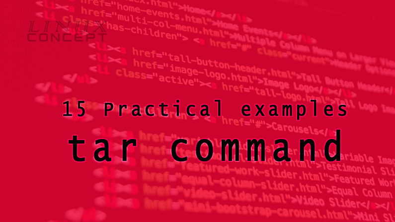 15 Practical examples of tar command image
