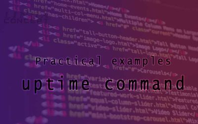 Practical examples of uptime command