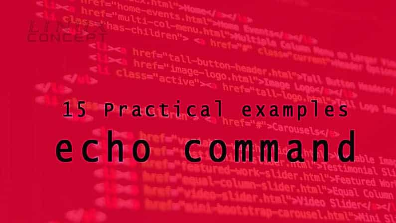Practical examples of echo command